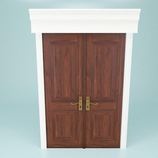 double doors 3d max