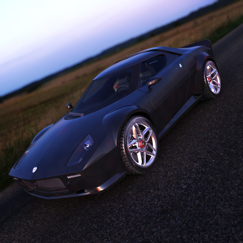 3ds engine lancia stratos concept car