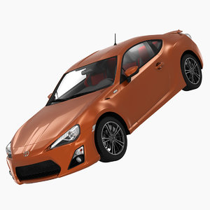 obj toyota gt86 sports car