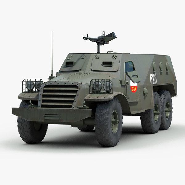 soviet btr 152 armored personnel 3d model