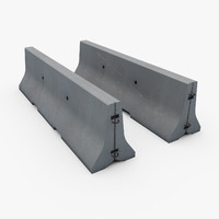 concrete road barrier 3d 3ds