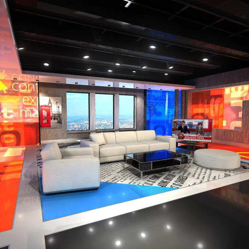 Virtual set studio 3d max for 3d studio max models