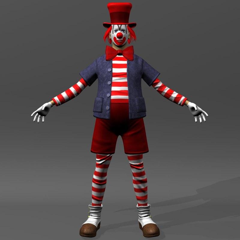3dsmax clown man human