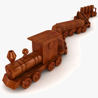 3dsmax wooden train set