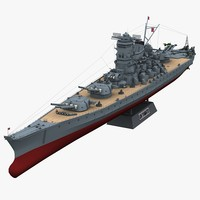 3d model ijn yamato