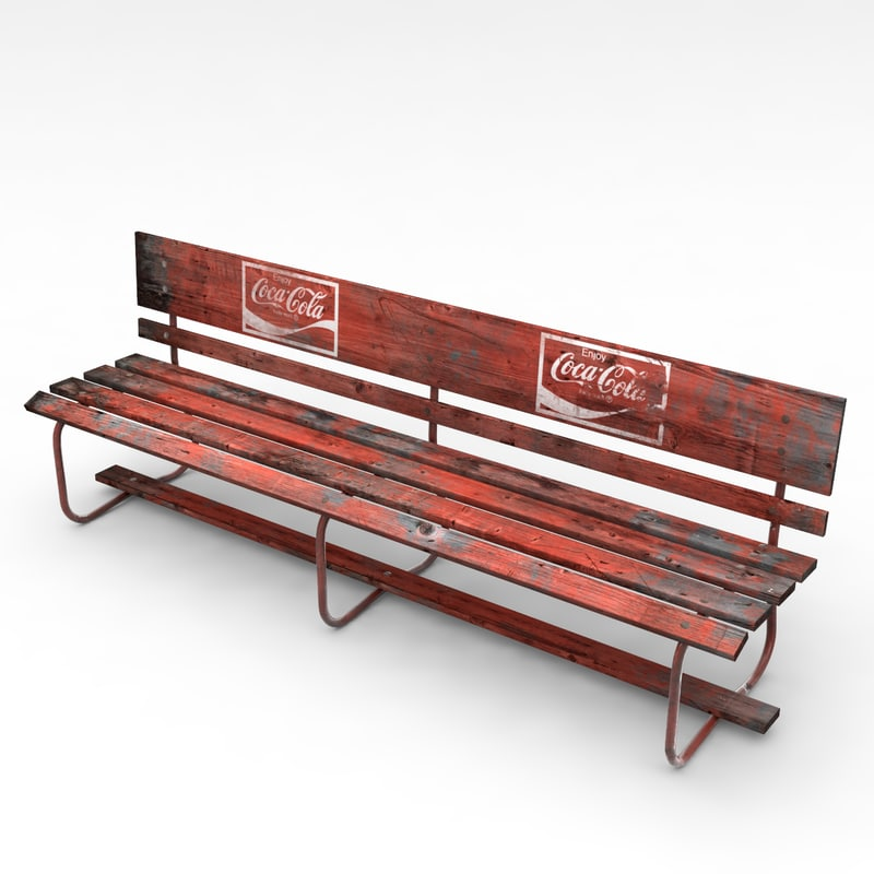 old urban seat 3d model