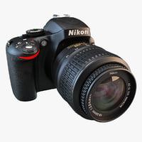 3d nikon d5100 camera model