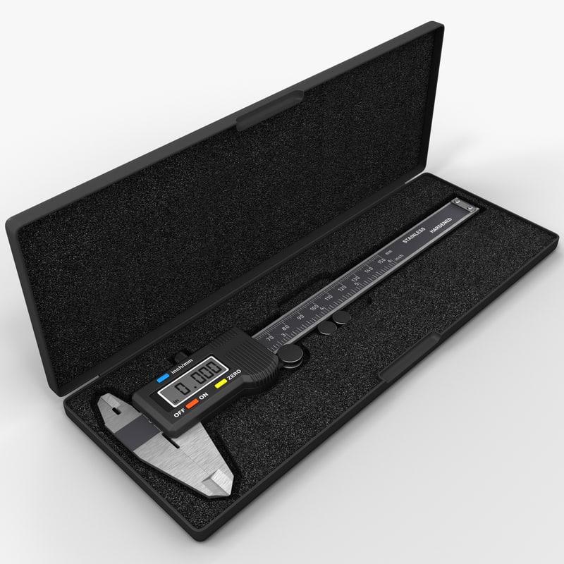 3d lcd digital caliper case