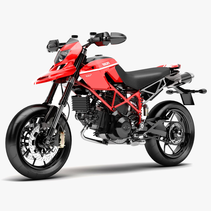 Ducati Hypermotard 1100 Evo 3d Model