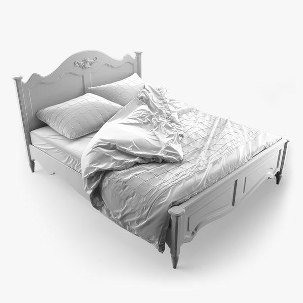3d model bed artichoke country