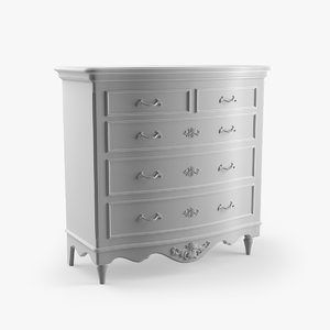 3ds max chest 5 drawers