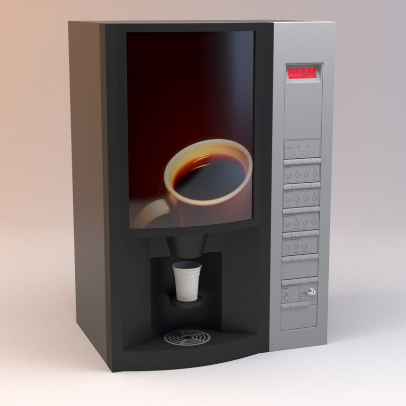 coffee vending machine 3d model