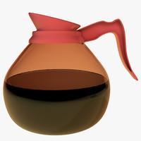 c4d coffee pot glass