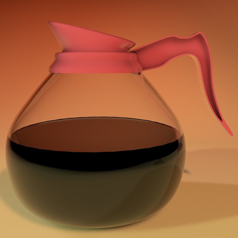 c4d coffee pot glass