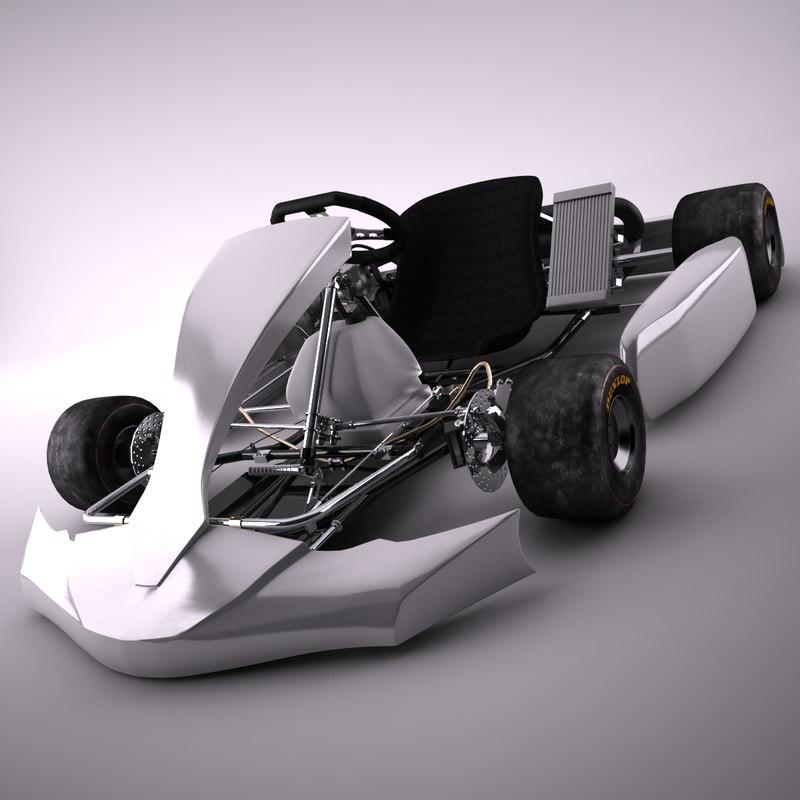 3d generic go-kart model
