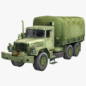 3d military truck m35 2½