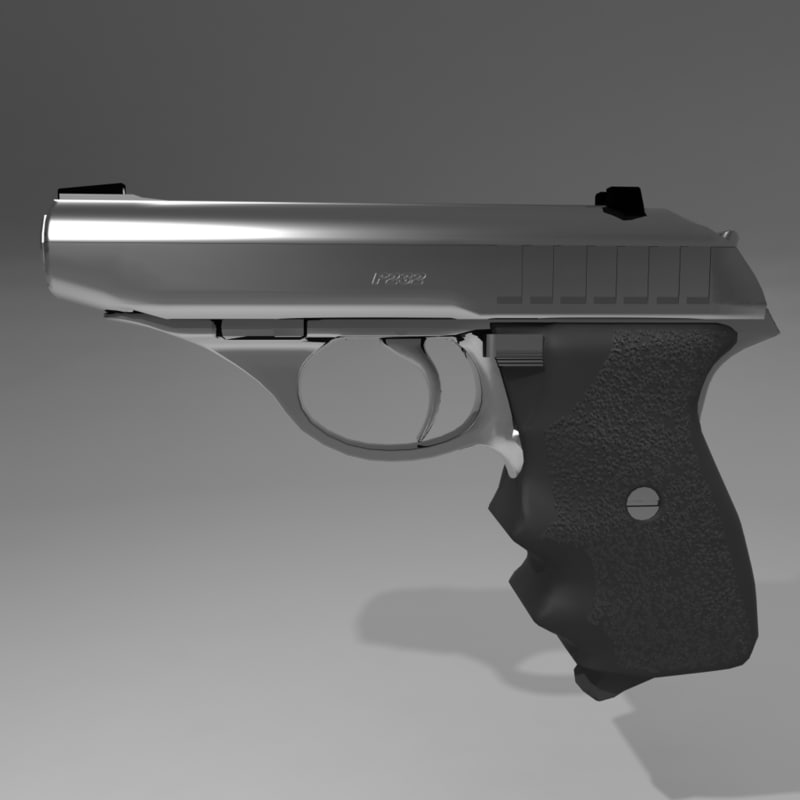 handgun 380 caliber pistol 3d model