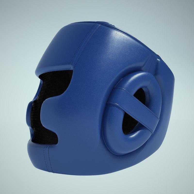 3d model taekwondo helmet