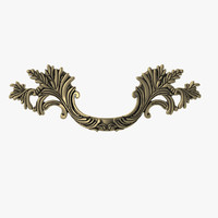 classical style door handle 3ds