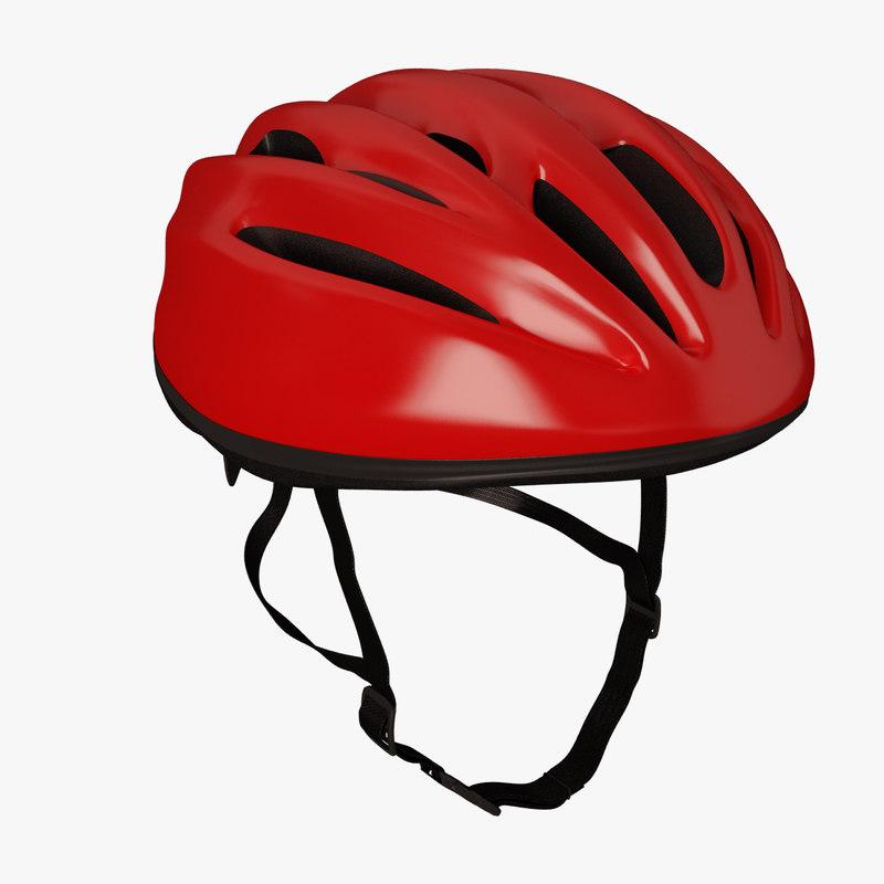 3d road bicycle helmet model