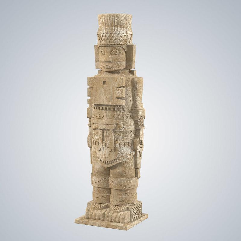 3ds max machu picchu statue