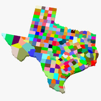 3d counties texas model