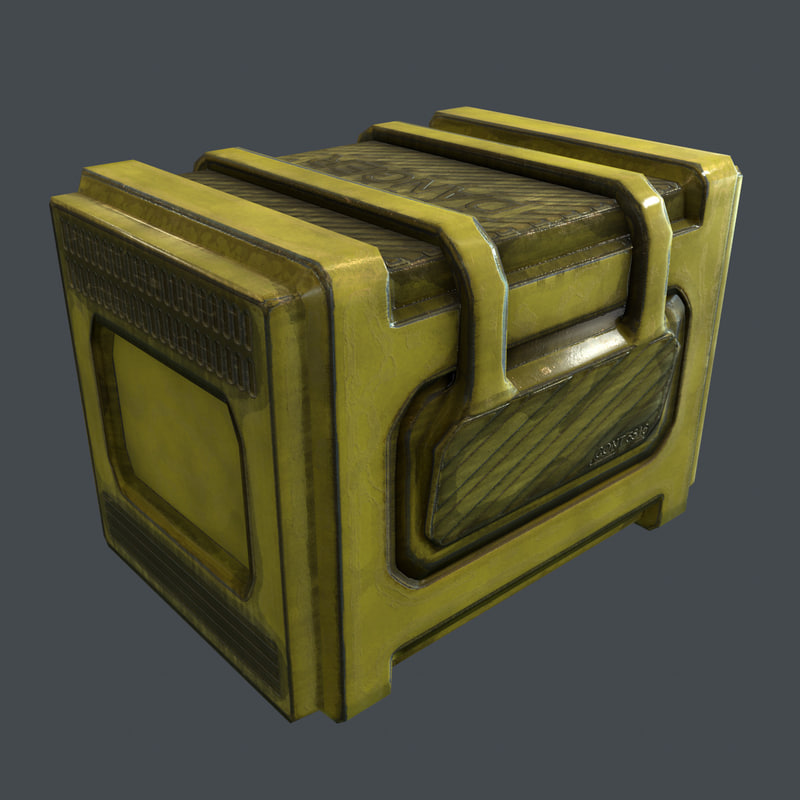 3ds max concept industrial container