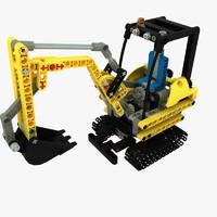 max set compact excavator lego
