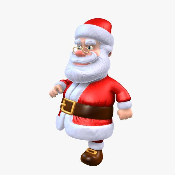 3d max cartoon character santa claus