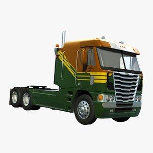 3d freightliner argosy truck 2014 model