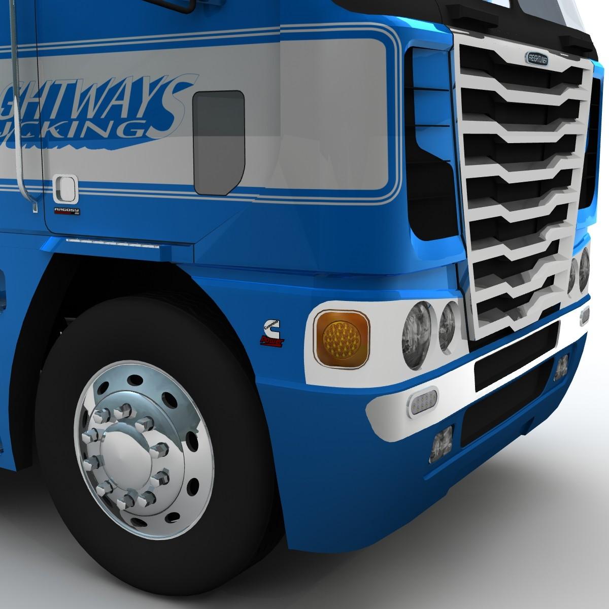 Freightliner argosy truck 2014 3d model