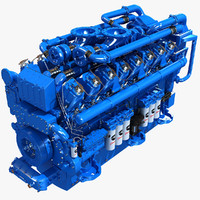 v12 diesel engine 3d obj