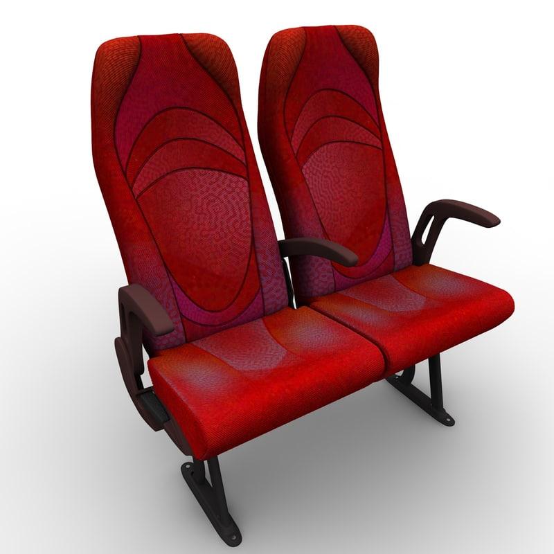 bus seat 3d model
