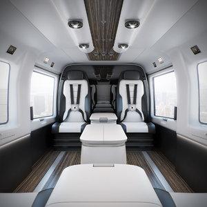3d mercedes-benz helicopter interior model