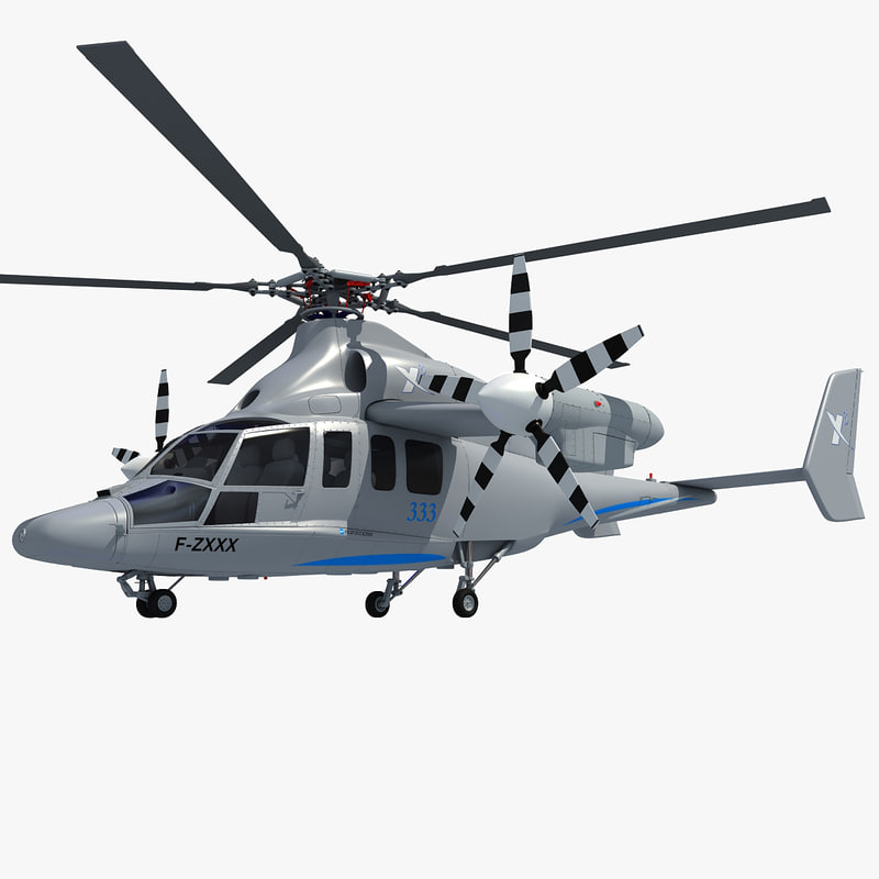 3d eurocopter x3 helicopter model