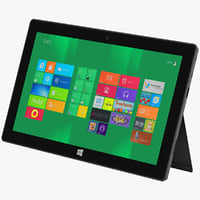 microsoft surface tablet 3d 3ds