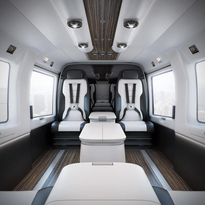 3d mercedes-benz helicopter interior model