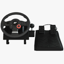 steering wheel controller 3D models