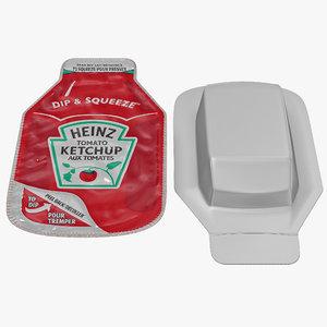 3ds ketchup heinz dip squeeze
