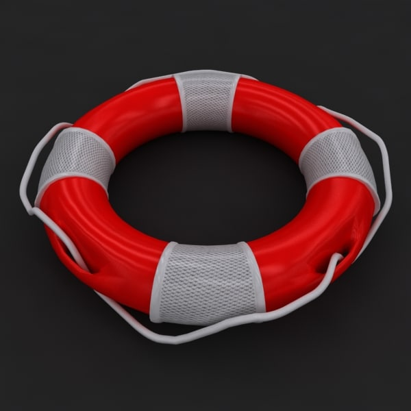red lifebuoy 3d 3ds