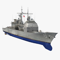 3d model uss port royal cg-73