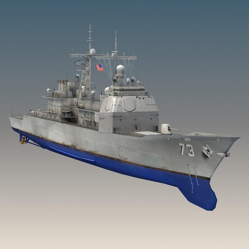 3d model uss port royal cg-73