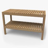 lwo ikea molger bench