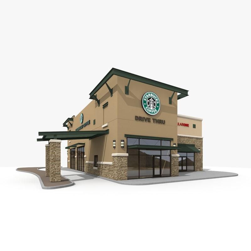 3d model starbucks restaurant
