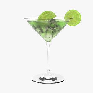 3d cocktail realistic