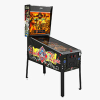 Pinball Machine : Black Rose