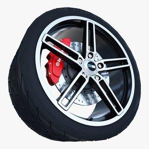 enkei razr wheel tire 3d max