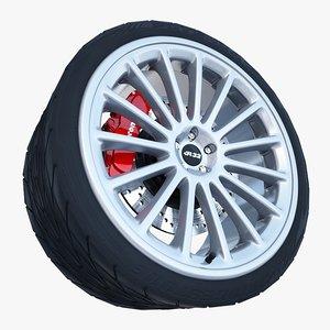 3d volkswagen r32 wheel tire