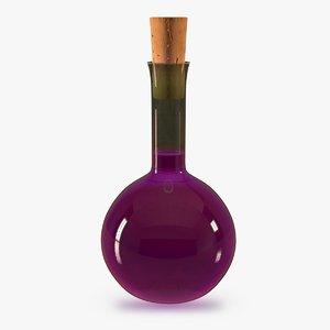 3d magic potion bottle