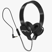 headphones sol republic black 3d 3ds